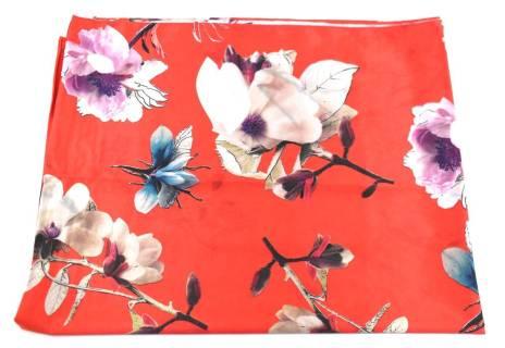 Moderní oboustranný dámský šátek - červená