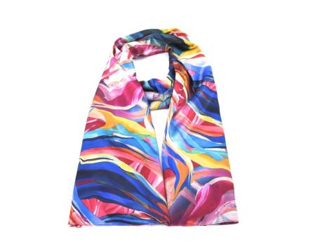 Moderní oboustranný dámský šátek - multicolor