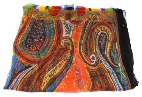 Dámský pareo plážový šátek hedvábný