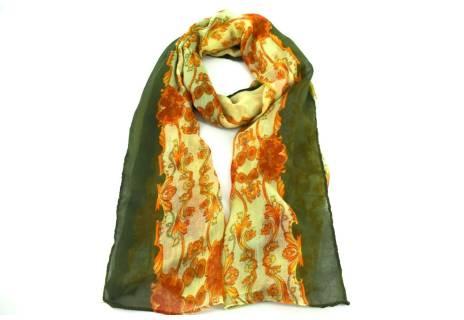 Moderní dámský šátek - zelená