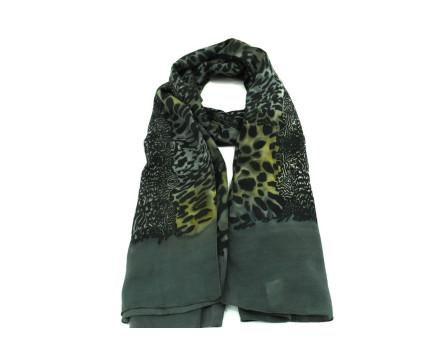 Moderní dámský šátek - tmavě zelená