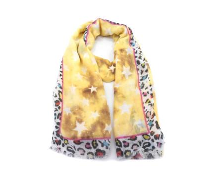Moderní dámský šátek - žlutá