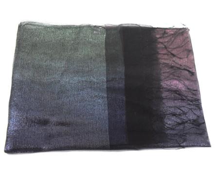 Dámský hedvábný šátek - tmavě modrá/fialová