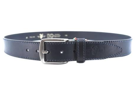 Kožený opasek Harvey Miller Made in italy - tmavě modrá/125