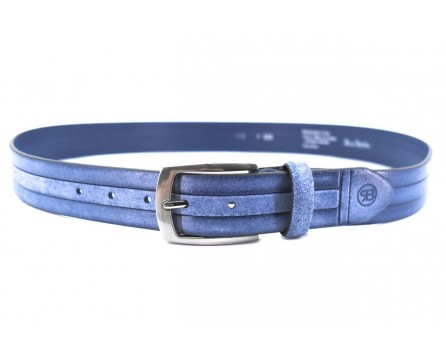 Kožený opasek Renato Balestra Made in italy - modrá/115