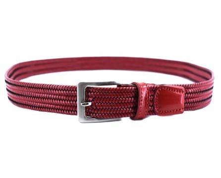 Kožený elastický opasek Arteddy - červená/115