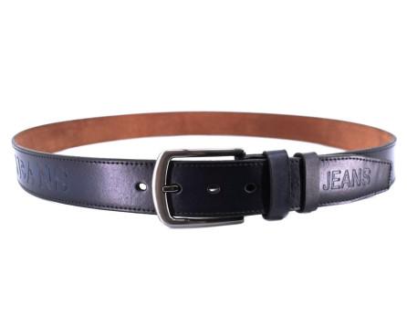 Kožený opasek Jeans - tmavě hnědá/130