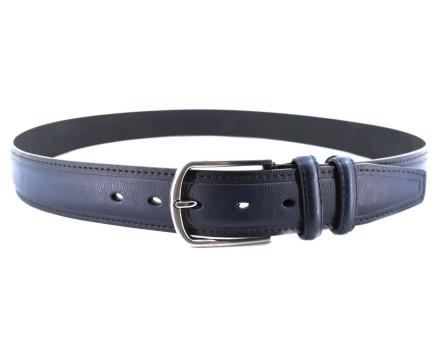 Kožený opasek Arteddy - tmavě modrá/125