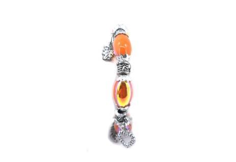 Pružný náramek - oranžová