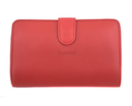Kožená peněženka Valentini - červená
