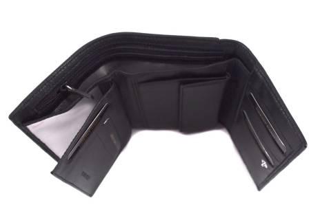 Kožená peněženka Valentini - černá