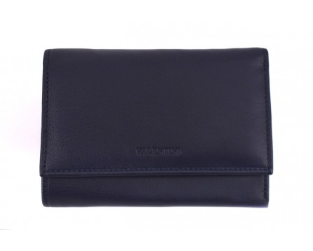 Kožená peněženka Valentini - tmavě modrá