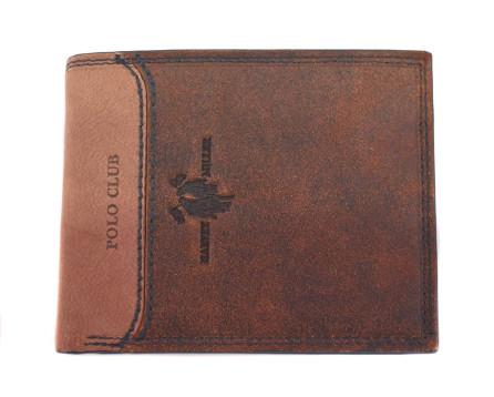 Kožená peněženka Harvey Miller - hnědá/béžová