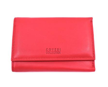 Kožená peněženka Coveri - červená