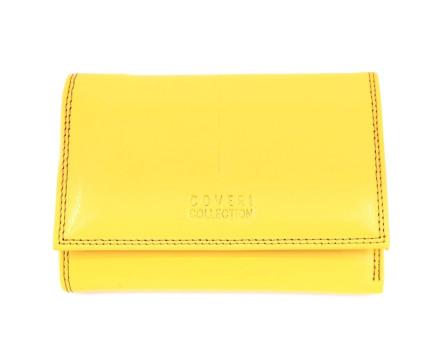 Kožená peněženka Coveri - žlutá