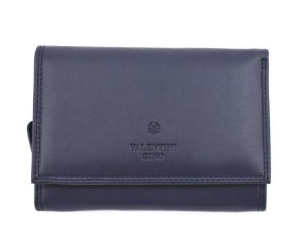 Kožená peněženka Valentini Gino - tmavě modrá