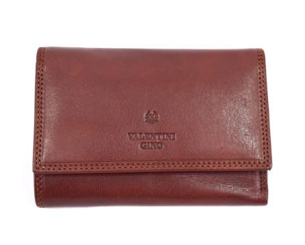 Kožená peněženka Valentini Gino - tmavě hnědá