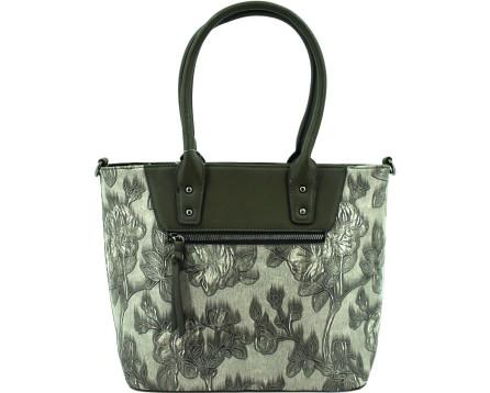 Dámská kabelka s květovaným vzorem