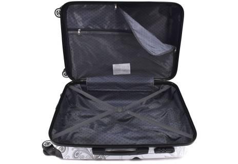 Cestovní skořepina kufr na čtyřech kolečkách Arteddy - motýl (L) 100l