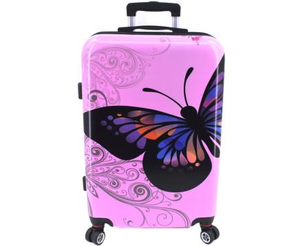 Cestovní palubní kufr na čtyřech kolečkách Arteddy - motýl (S) 45l