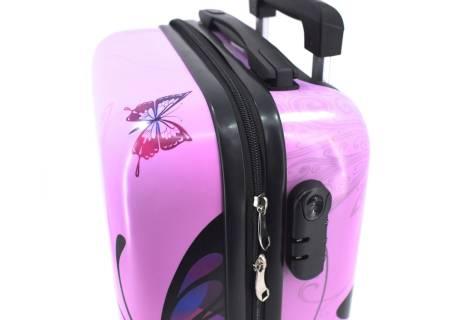 Cestovní palubní kufr na čtyřech kolečkách Arteddy - motýl (XS) 30l