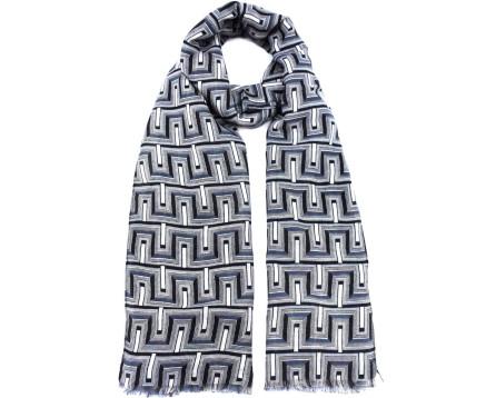 Vzorovaný šátek - šedá