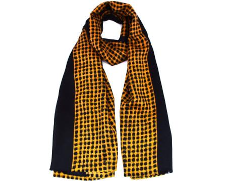 Šátek s potiskem - hořčicová