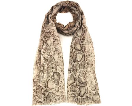 Šátek s potiskem - béžová