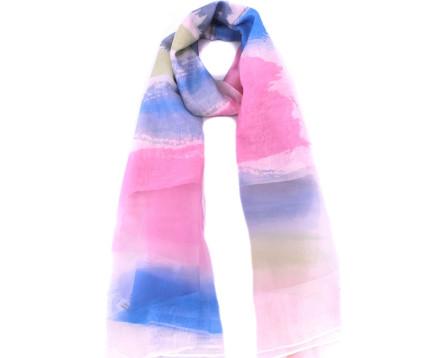 Hedvábný šátek - duhový