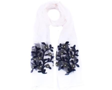 Moderní dámský šátek - bílá
