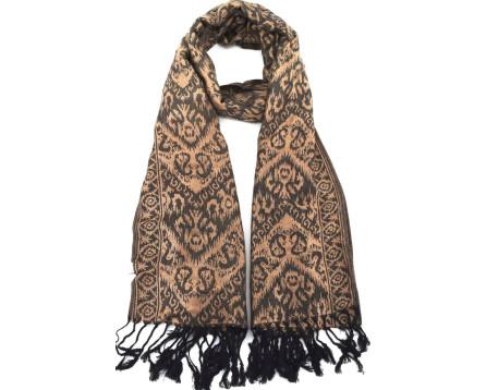 Doderní  šátek s třásněmi - béžová