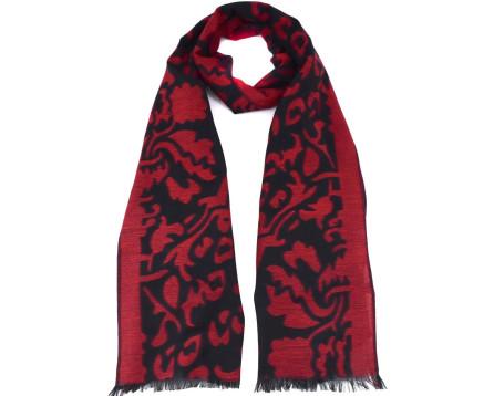 Moderní dámský šátek - vínová