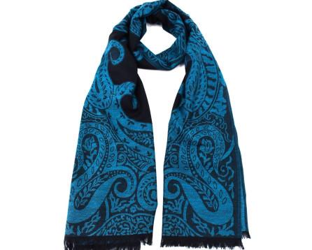 Moderní dámský šátek - tyrkysová