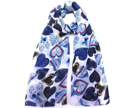 Šátek s potiskem - modrá