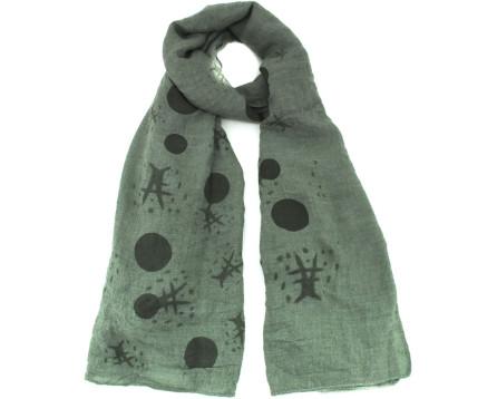 Šátek s potiskem - zelená
