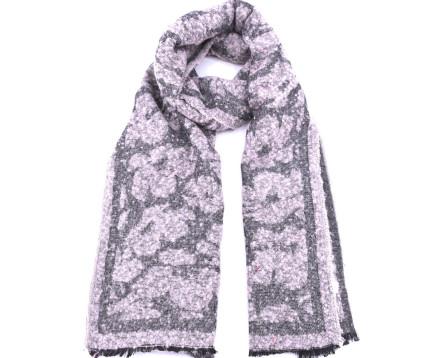 Moderní  zimní šála - růžová/pudrová