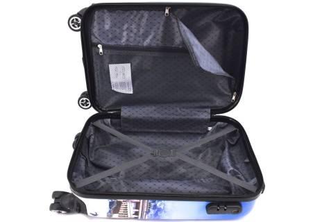 Cestovní  palubní kufr skořepinový na čtyřech kolečkách Arteddy - Letadlo (XS) 30l