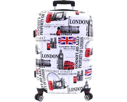 Cestovní kufr skořepinový na čtyřech kolečkách Arteddy -  Meter Flag (M) 70l