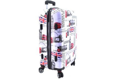 Cestovní  palubní kufr skořepinový na čtyřech kolečkách Arteddy -  Meter Flag (S) 40l