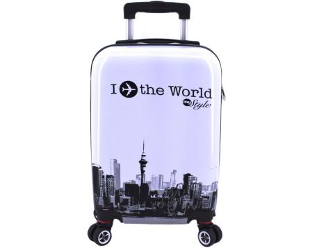 Cestovní  palubní kufr skořepinový na čtyřech kolečkách Arteddy - In the World (XS) 30l