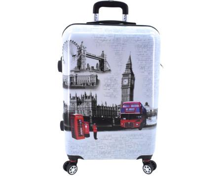 Cestovní skořepina kufr na čtyřech kolečkách - London (L)