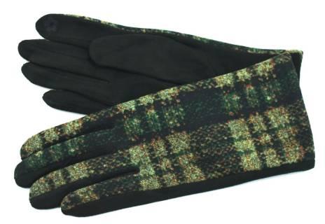 Moderní kárované dámské rukavice