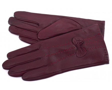 Dámské zateplené kožené rukavice
