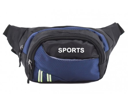 Ledvinka Sport - černá/modrá