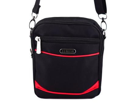 Taška přes rameno Simon -  černá/červená