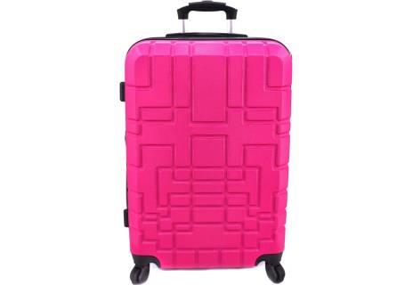 Cestovní  palubní kufr skořepinový na čtyřech kolečkách - (S) 50l