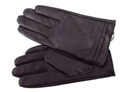 Pánské kožené zateplené rukavice  Coveri - tmavě hnědá
