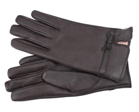 Dámské kožené rukavice Every - tmavě hnědá (L)