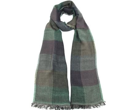 Dámský šátek s kostkovaným vzorem