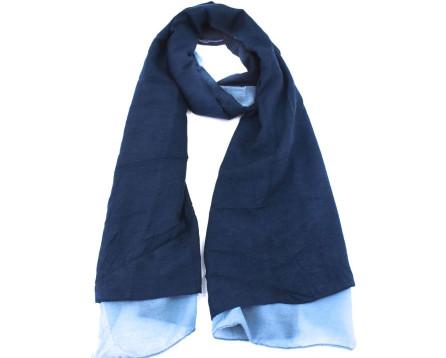 Moderní dámský šátek - tmavě modrá/světle modrá
